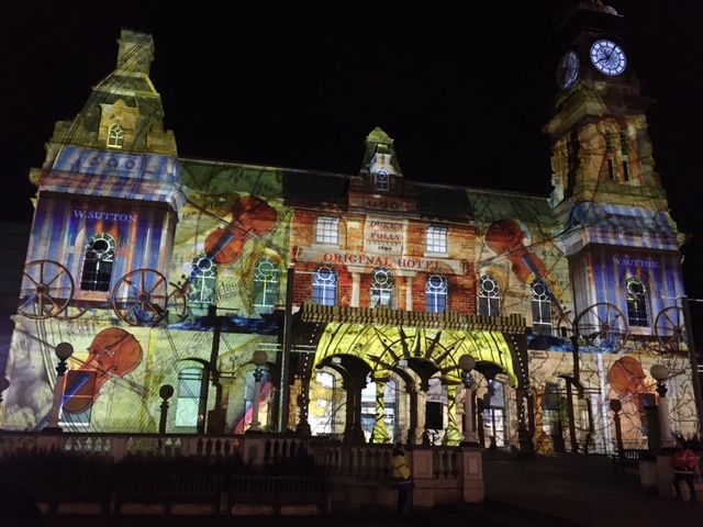 The Atkinson in Southport was lit up by The Nightingale's Song, part of the Sefton Borough of Culture celebrations