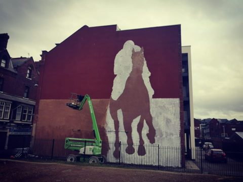 Mysterious giant mural appears on Southport building