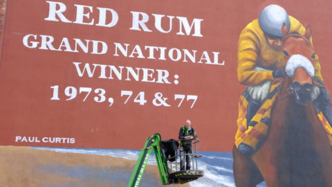 Spectacular new Red Rum mural unveiled in Southport
