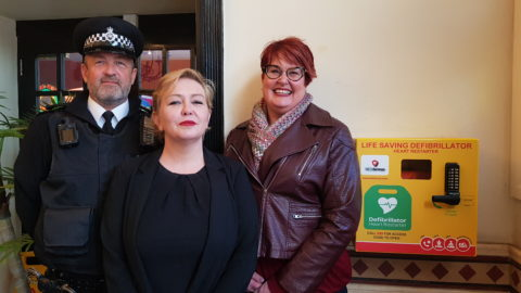 Town centre gains 24 hour defibrillator thanks to Southport BID