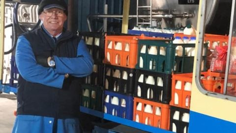 Bates Dairy milkman enjoys last milk round after 40 years
