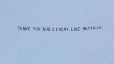 Revealed: Mystery of aircraft banner praising NHS on Clap For Carers night