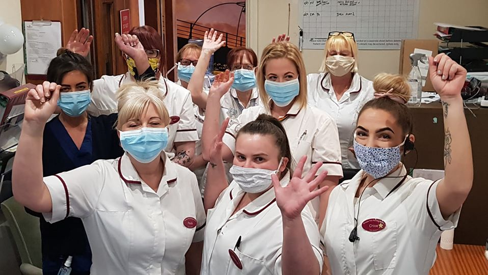 Birkdale Park Nursing Home staff paraded outside their Southport care home to clap for friends and colleagues in the NHS and social care dueing Clap For Carers night