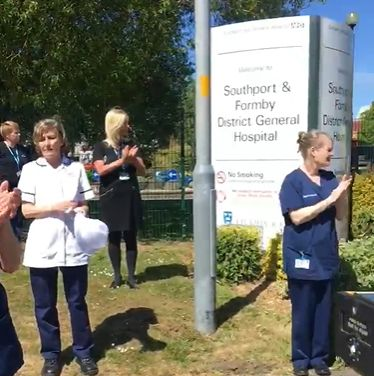 Southport Hospital staff applauded former colleague Josephine Peter who died of Covid-19
