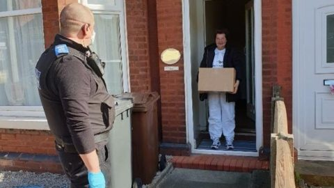 Police deliver emergency food parcels to homes in Southport