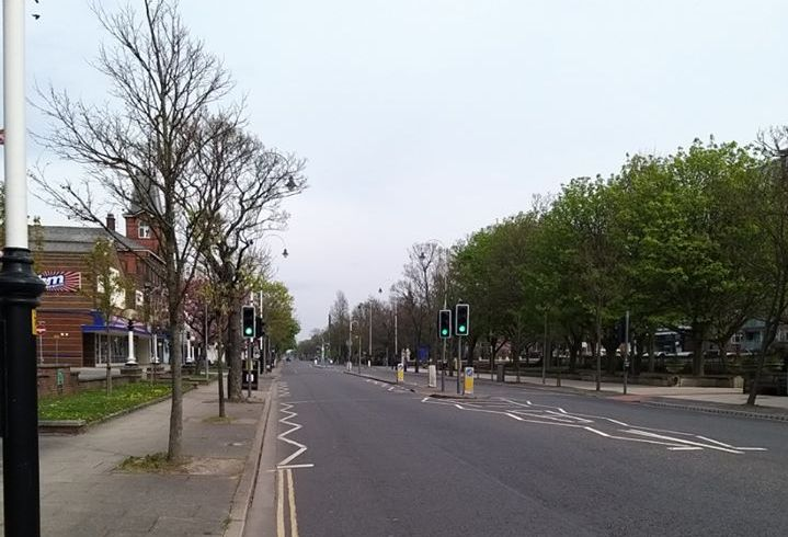Police have thanked people in Southport and Formby for staying home over Easter and respecting government advice over the spread of coronavirus. Lord Street looking deserted.