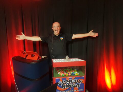 Join Online Comedy Bingo night and raise money for Queenscourt Hospice