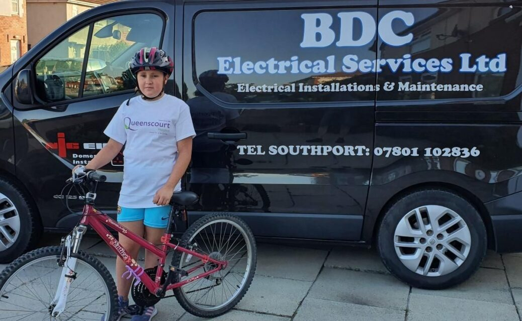 Danielle Briscoe from Southport is cycling 400 miles in June to raise money for Queenscourt Hospice