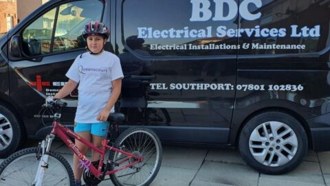 Brave schoolgirl to cycle 400 miles to raise funds for Queenscourt Hospice