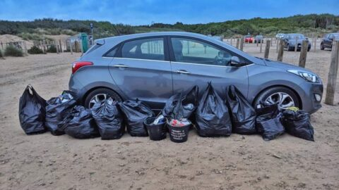 Litter Angels clear beach of 10 bags of rubbish left behind by Covidiots