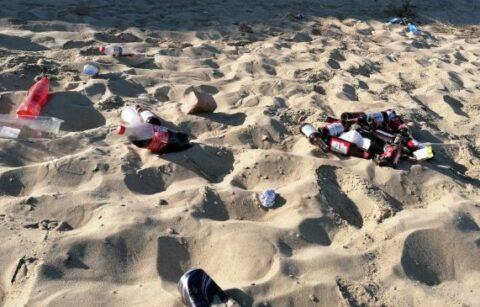 Selfish visitors leave beaches looking like 'morning after Glastonbury'