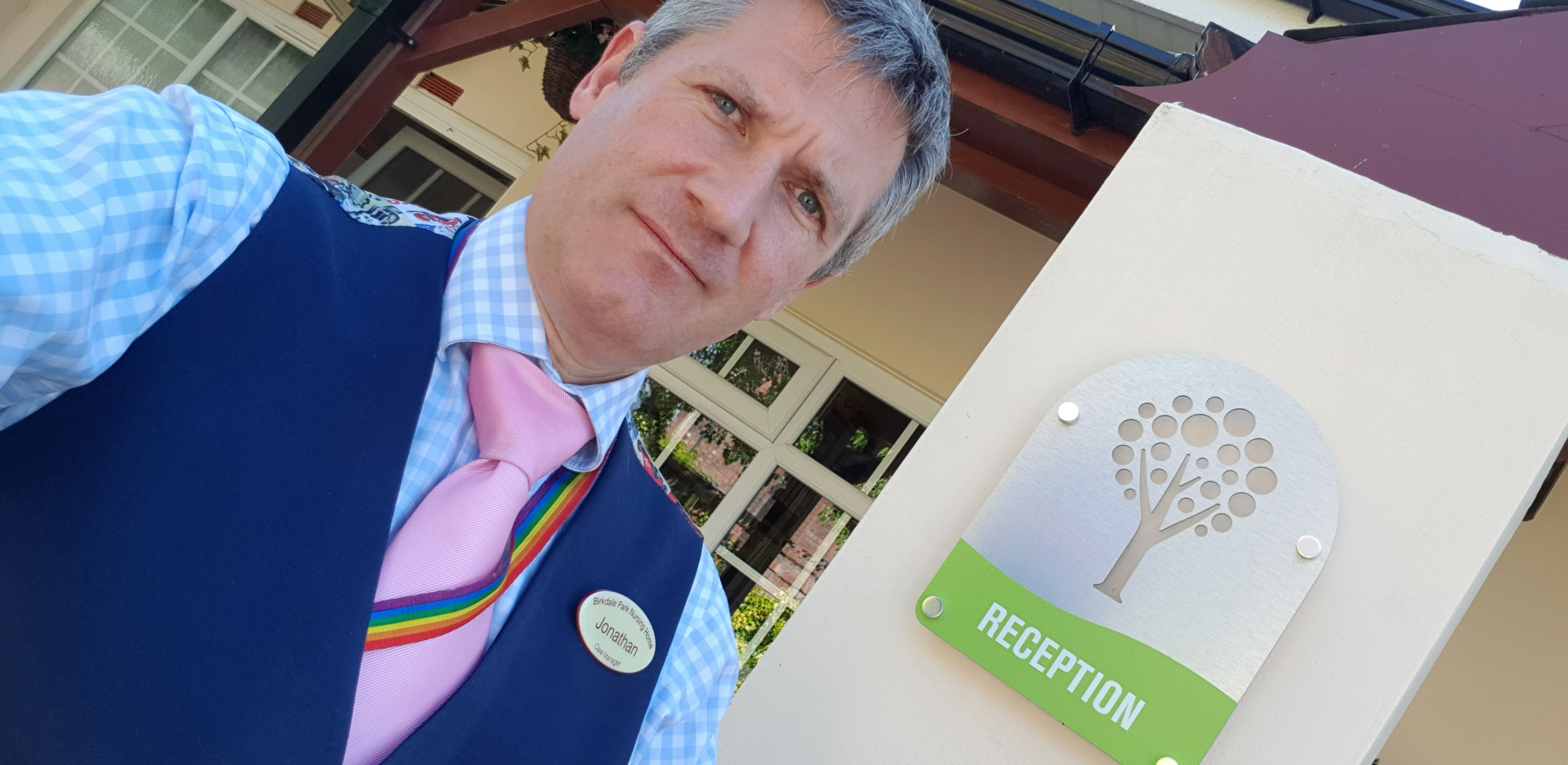 Jonathan Cunningham MBE, the Registered Care Manager at