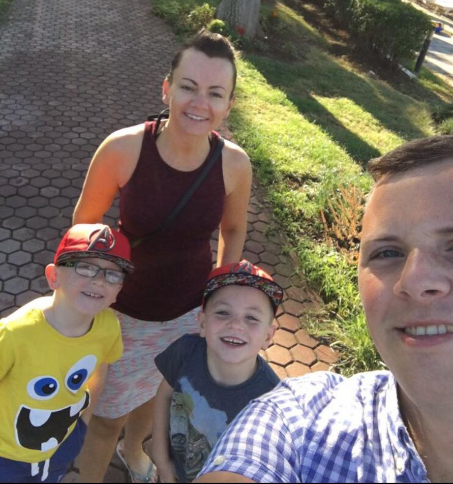 Personal trainer Lisa Little is helping people to get fit, lose weight and get healthy. She is pictured with husband, Joe, and their two sons.