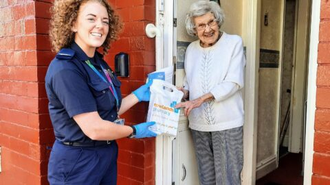 Firefighters deliver prescriptions and food parcels to thousands of homes