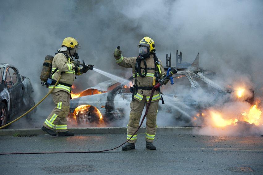 Merseyside Fire & Rescue Service firefighters