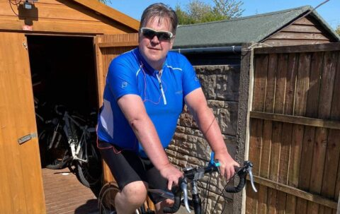 Fundraiser cycles 1,060km Southport to Paris (virtually) for MS Therapy Centre
