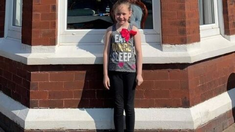 Brave schoolgirl, 9, runs 'marathon' to raise money for our NHS
