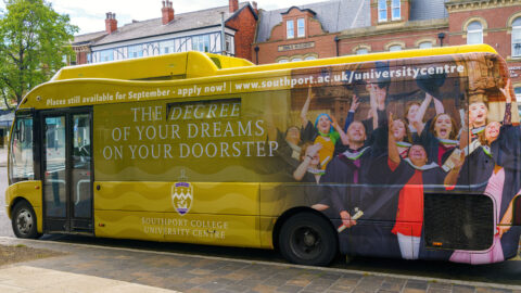 Spot this Southport College University Centre bus and you could win £50