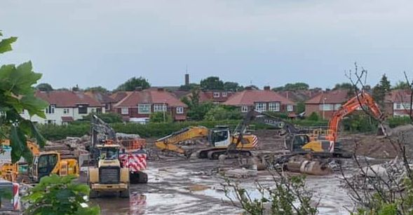 The factories in Crossens in Southport are nearly gone. Photo by Paul Gingell