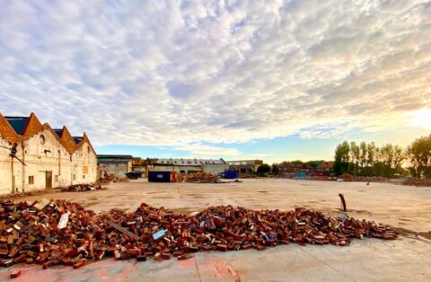 Former factories make way for 157 new homes as big part of town's history demolished