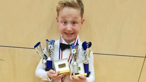 Ballroom dancer, 10, who had gruelling brain surgery dances to raise money for Alder Hey Hospital