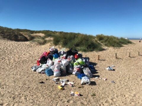 Beach plan sees new toilets, skips and parking but visitors urged to stay safe and stay away