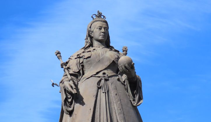 The Queen Victoria statue on Nevill Street in Southport. Photo copyright Andrew Brown Media