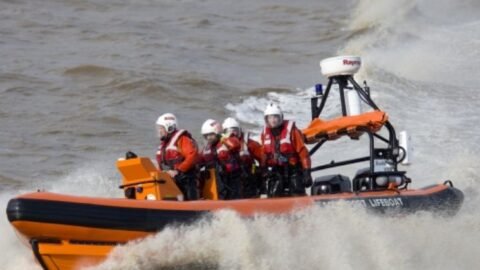 Southport Lifeboat launch #itsbehindyou campaign to warn Southport Beach visitors