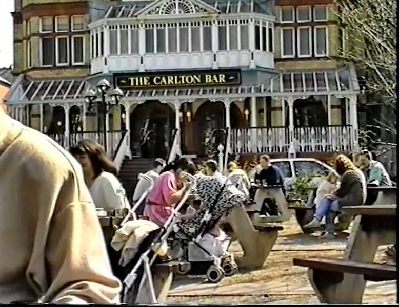 The Carlton bar in Southport in the 1990s