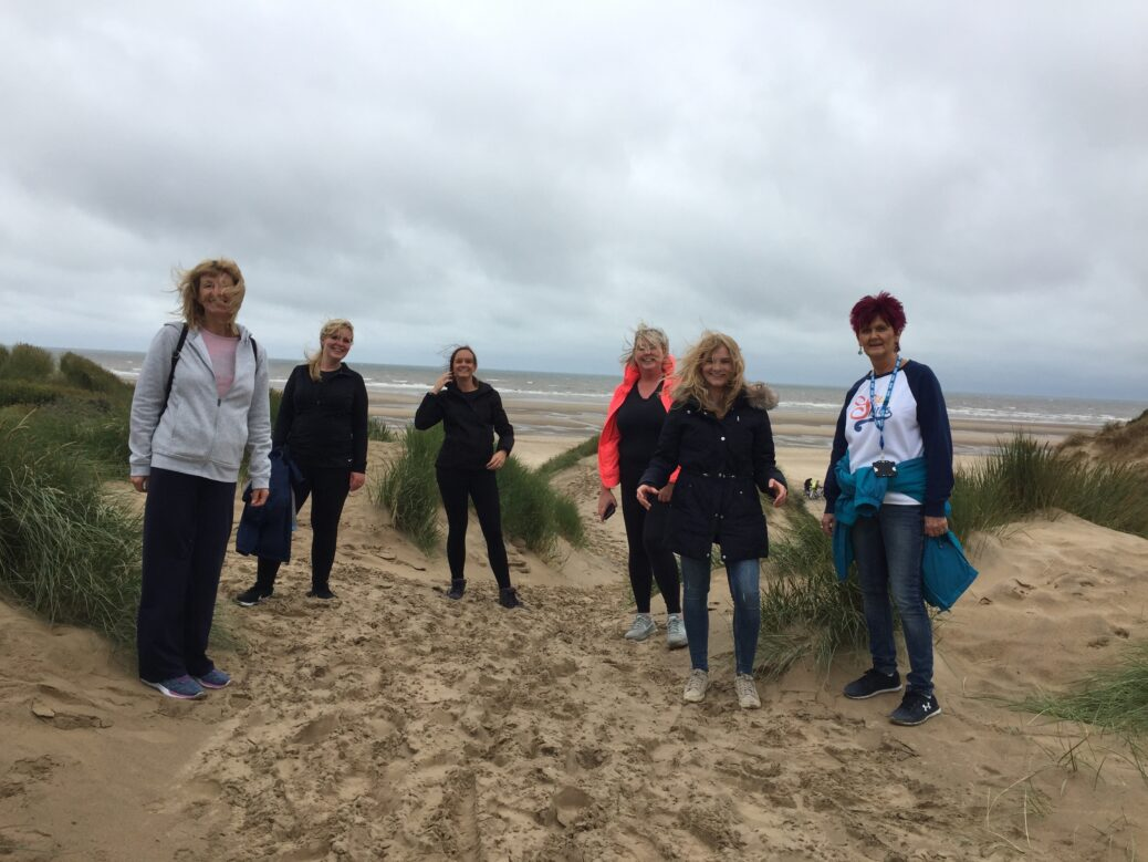 Dr Colette Nugent with some of Ainsdale Medical Centre fundraising team