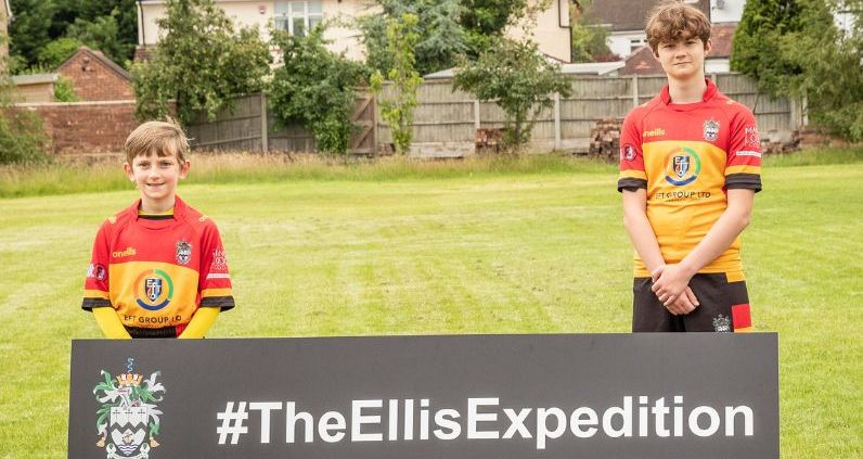 Two young players from Southport Rugby Football Club launch The Ellis Expeditio. Photo by Angus Matheson of Wainwright & Matheson Photography