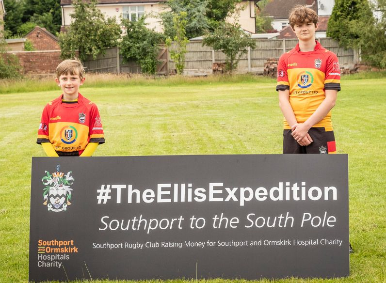 Two young players from Southport Rugby Football Club launch The Ellis Expedition #TheEllisExpedition Photo by Angus Matheson of Wainwright & Matheson Photography