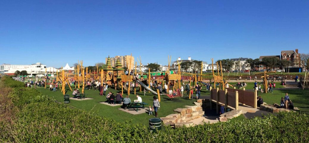 The playground at Kings Gardens in Southport. Photo by Adam, Yaffe