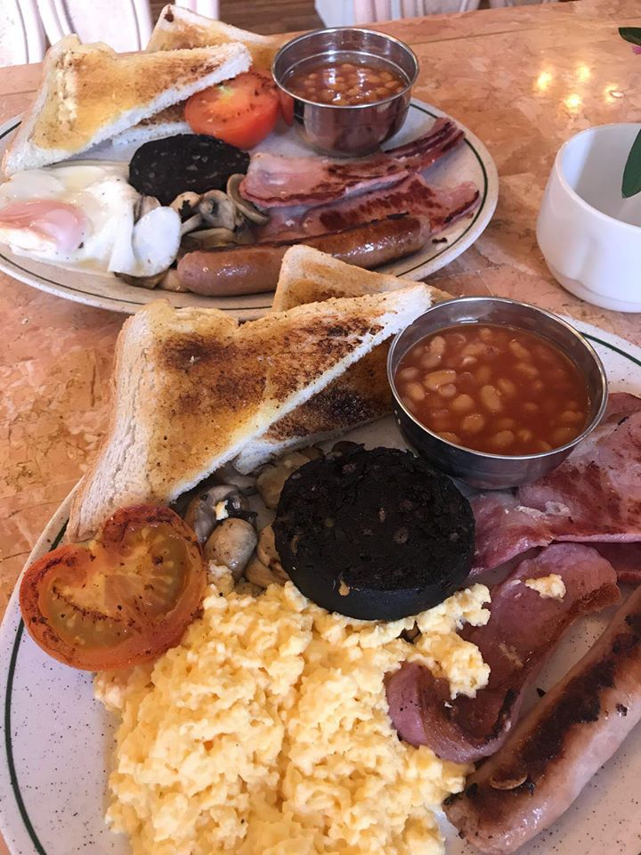 English Breakfast at Nostalgia Tea Rooms in Southport