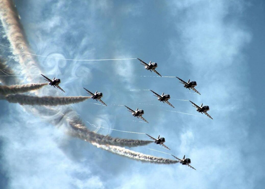 The Red Arrows at Southport Air Show. Photo by Fraser Brown