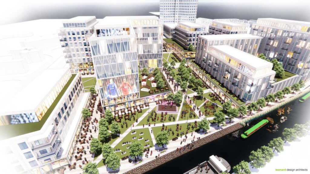 An artist's impression of how the Bootle Strand area could look
