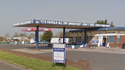 Drive-through coffee shop and four new shops for Tarleton Bypass at hand car wash site