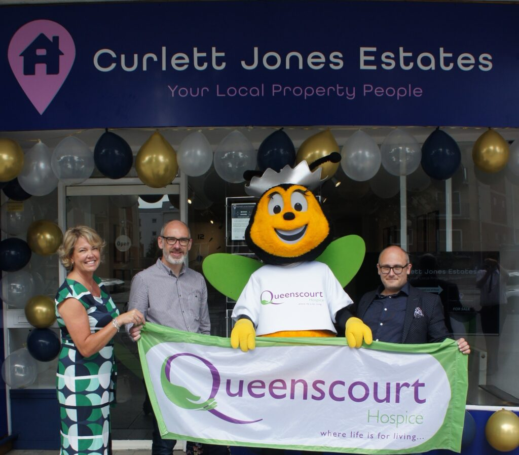 Curlett Jones Estates has opened on Lord Street in Southport with help from Queenscourt Hospice mascot Queenie Bee