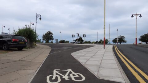 New Southport cycle lanes see Queens Road closed to traffic and cycling allowed on Chapel Street
