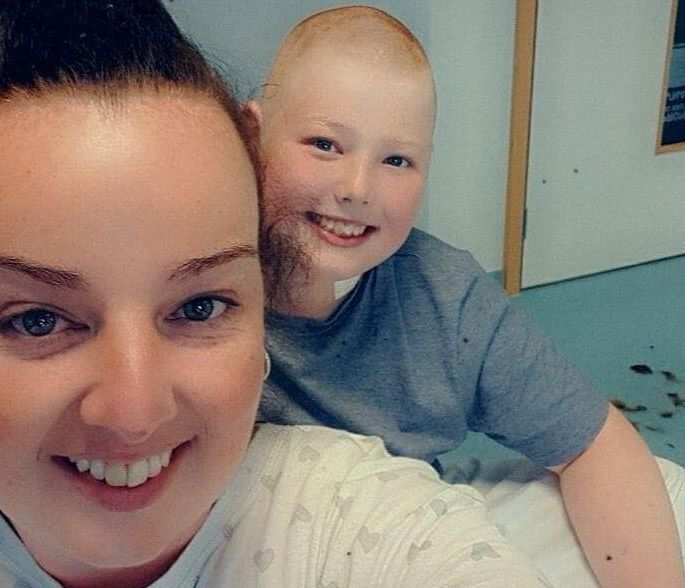 Lewis Wright, aged 12, from Southport, has been diagnosed with leukaemia. He is pictured with Mum Kayleigh Sherran.