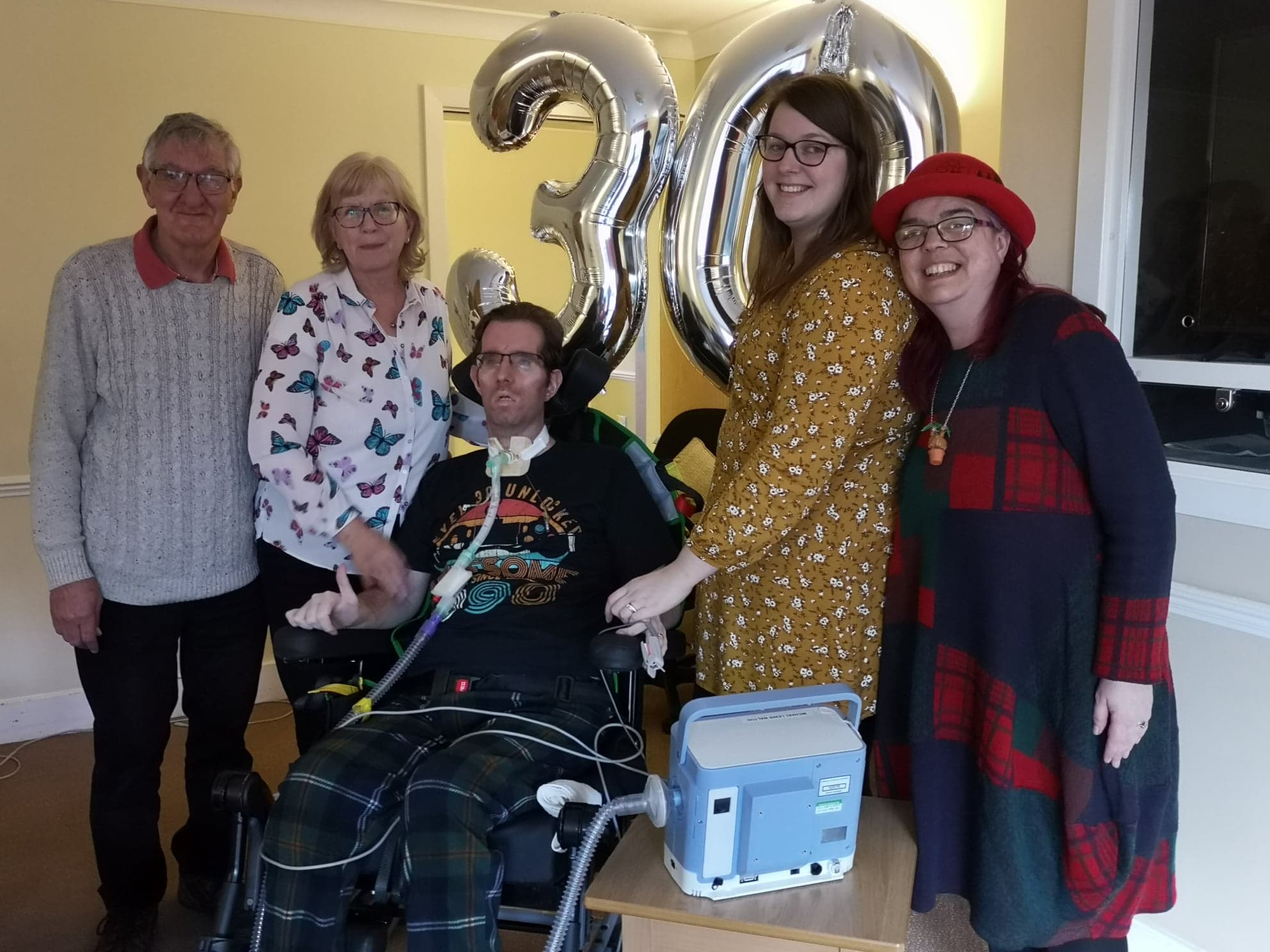 Michael Walton, from Southport, celebrates his 30th birthday