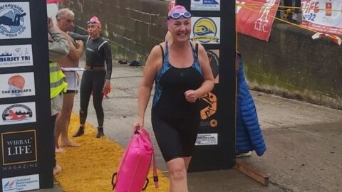 Southport Hospital midwife swims River Mersey raising £2,300 to help bereaved mums