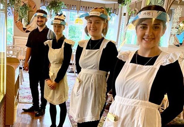Staff at Nostalgia Tea Rooms in Southport