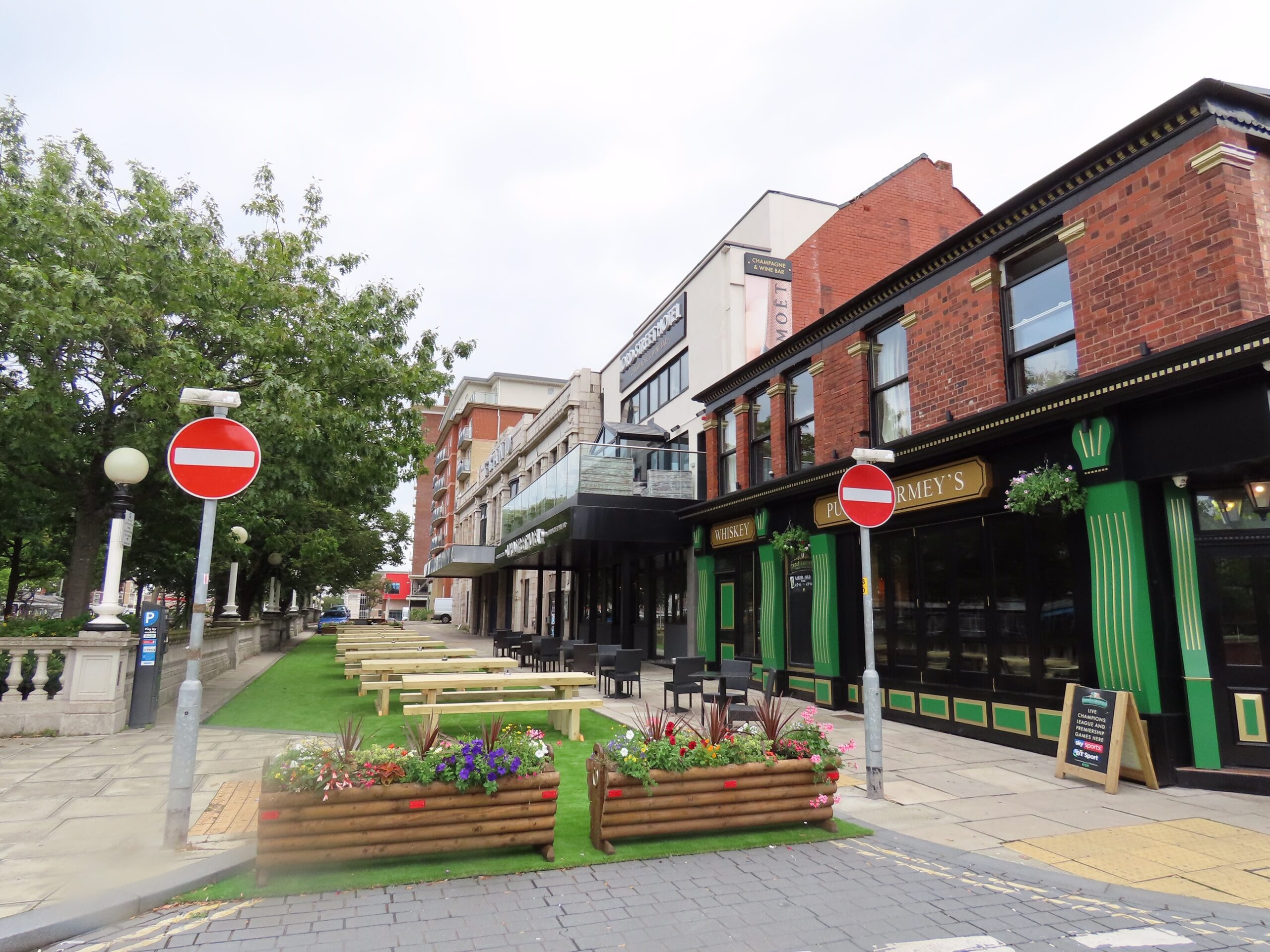 The new Garden Bar outside the Lord Street Hotel and Punch Tarmey's bar on Lord Street in Southport. Photo by Andrew Brown Media