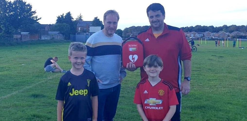 Southport Athletic JFC has had a defibrillator purchased for them by Community Link Foundation charity in Southport