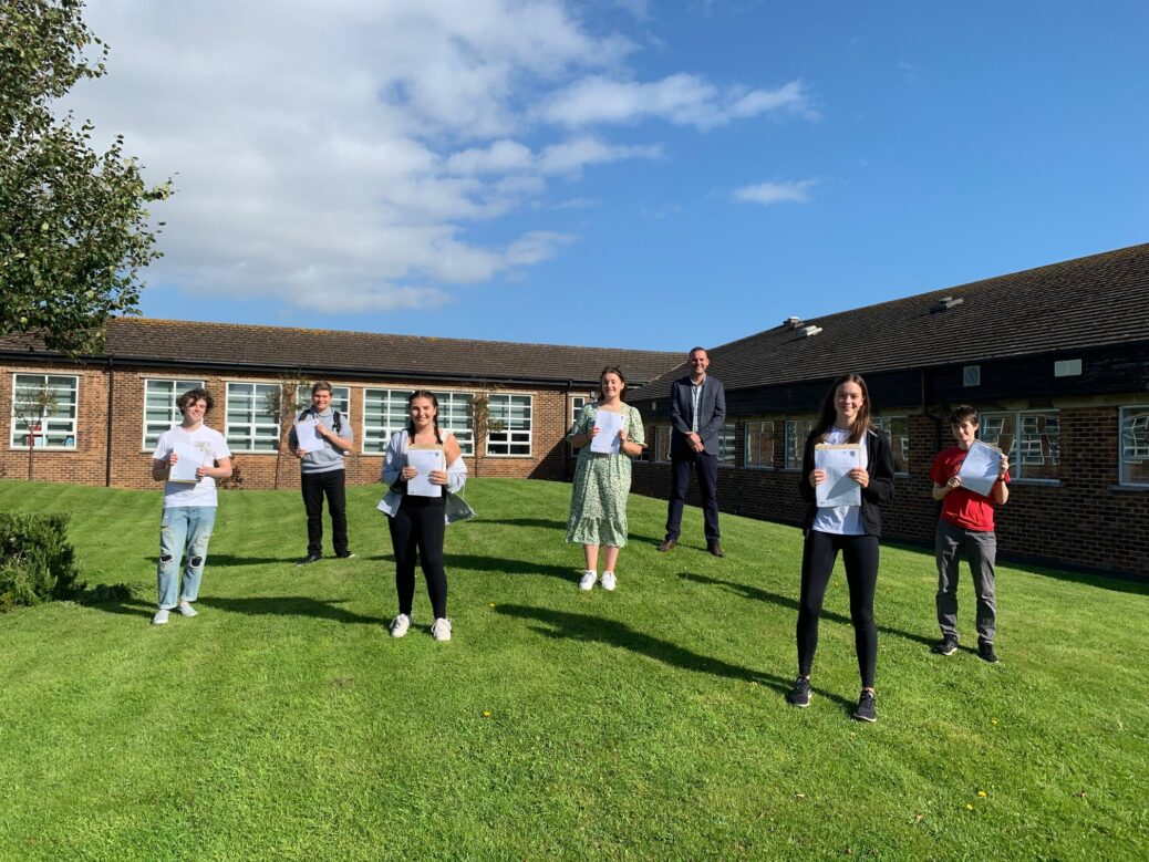 Stanley High School students in Southport celebrate their GCSE success