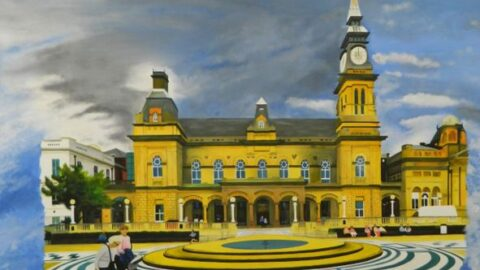 Stunning painting of The Atkinson to take pride of place in Southport Library