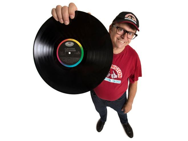 Comedian Tom Binns as hospital radio DJ Ivan Brackenbury