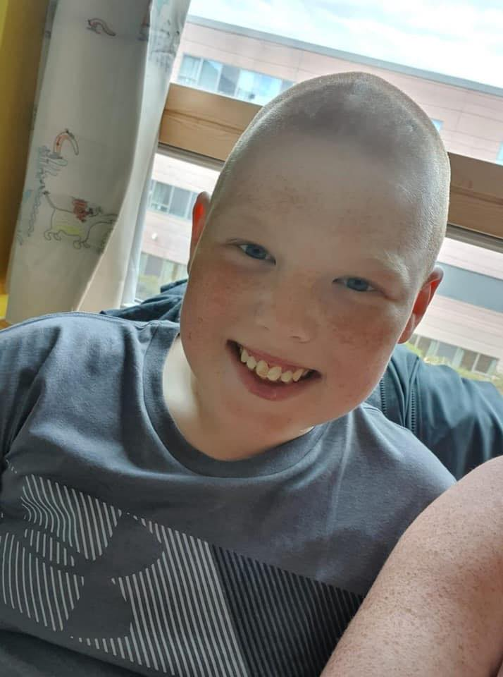 Lewis Wright, from Southport, is undergoing chemotherapy afer being diagnosed with leukaemia