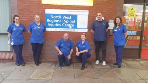 Southport Hospital Spinal Unit staff walk to Liverpool to raise money for new minibus for patients